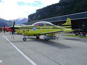 Pilatus PC-9 - Swiss Air Force PC-9 with Vista 5 Jammer