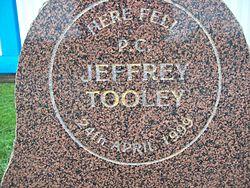 Photo of Jeffrey Tooley stone plaque