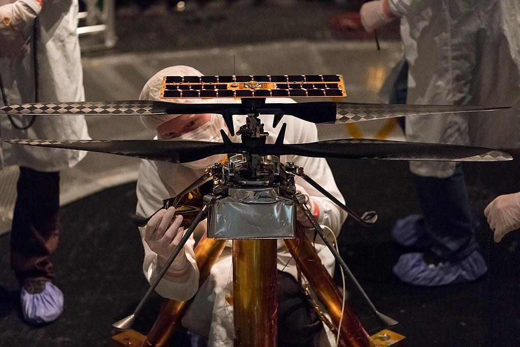 Ingenuity, марсианский дрон разведчик.