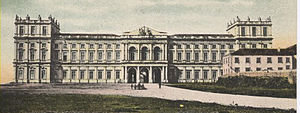 Palace of Ajuda - An 1870 illustration of the Ajuda Palace, during its time as residence to the Royal Family of King Luís