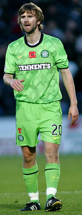 Paddy McCourt - McCourt playing for Celtic in 2010