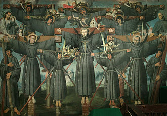 Anglican Church in Japan - Depiction of the Nagasaki Martyrs (16th century)