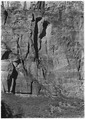 Pair of broken out rectangular arches, directly across in front of Zion Lodge. - NARA - 520468.tif