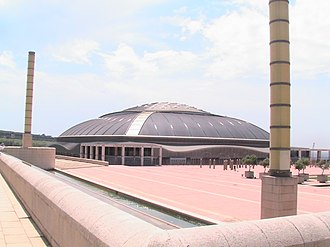 1997–98 FIBA EuroLeague - The Palau Sant Jordi in Barcelona hosted the Final Four