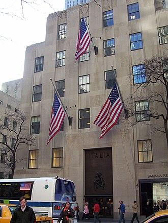 International Building (Rockefeller Center) - Palazzo d'Italia
