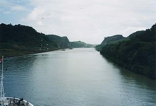 Culebra Cut Valley that is part of the Panama Canal