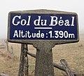 Panneau col du Béal 1390 m (avril 2019).jpg