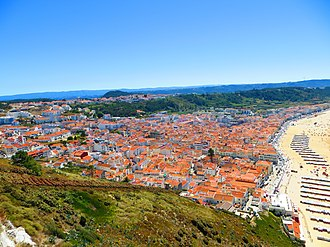 Nazaré, Portugal - Panoramic view of the village.