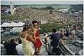 Panorama over het swingende publiek bij de derde editie van housefestival Dance Valley in recreatiegebied Spaarnwoude. NL-HlmNHA 54037201.JPG