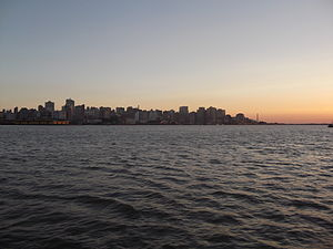 Panoramic of Historic Center, Porto Alegre, Brazil 2014-01-18 00