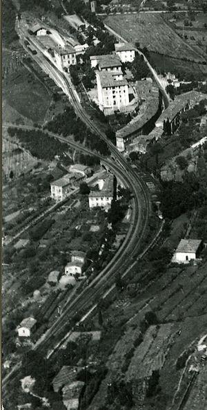 Zig zag (railway) - Image: Panoramica regresso Saline Volterra