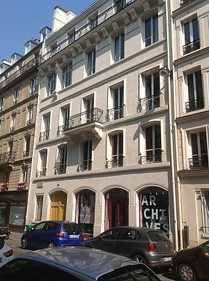 Residence of Viollet-le-Duc at 68 rue Condorcet, Paris (1862) Paris residence of Viollet-le-Duc.jpg