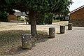Park pavement bollards at Coopersale, Essex, England.jpg