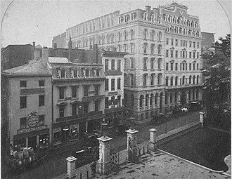 Omni Parker House - The Parker House as it looked in 1866, eleven years after opening.