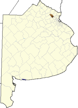 location of Exaltación de la Cruz Partido in Buenos Aires Province