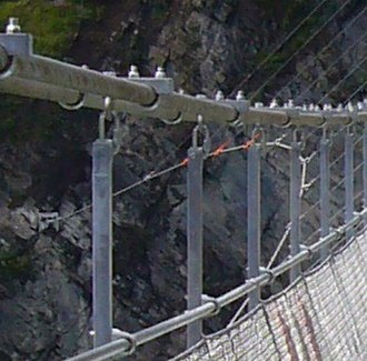 Lac de Monteynard-Avignonet - Cable stays below the deck to prevent the Drac bridge from swinging