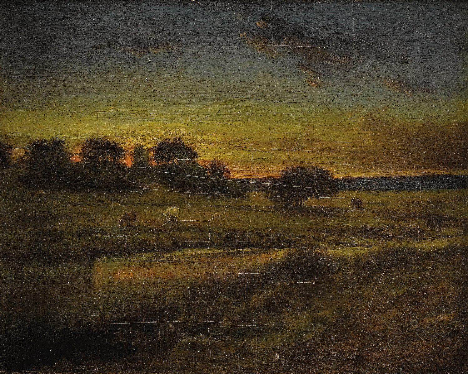 george inness early moonrise - HD 1498×1200