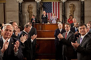 2010 State of the Union Address - The path for President Barack Obama before the 2010 State of the Union Address.