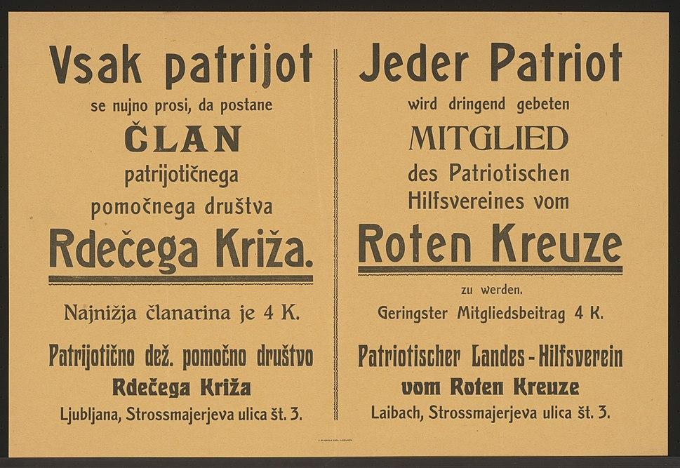 Patriotischer Landes-Hilfsverein vom Roten Kreuze - Laibach 1916