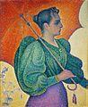 Paul Signac, 1893, Femme à l'ombrelle, oil on canvas, 81 x 65 cm, Musée d'Orsay.jpg