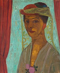 Paula Modersohn-Becker - Self-portrait with hat and veil - Google Art Project.jpg