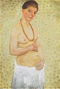 Paula Moderson-Becker - Selbstbildnis am 6 Hochzeitstag - 1906.jpeg