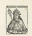 Paus Benedictus XI Benedictus undecimus (titel op object) Liber Chronicarum (serietitel), RP-P-2016-49-60-2.jpg