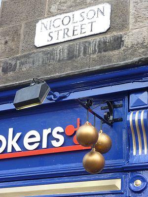History of pawnbroking - Pawnbroker's shop sign in Edinburgh, Scotland, 2010