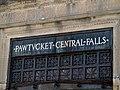 Pawtucket-Central Falls station name detail, August 2015.JPG