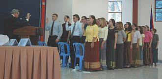 Altruism - Peace Corps trainees swearing in as volunteers in Cambodia, 4 April 2007