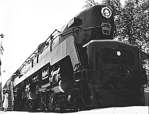 Pennsylvania Railroad 5550 - PRR 5549, a production series T1. 5549 was one of the 27 T1s constructed by Baldwin.