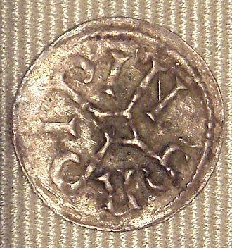 Pepin II of Aquitaine - Image: Pepin II d Aquitaine obole 845 to 848