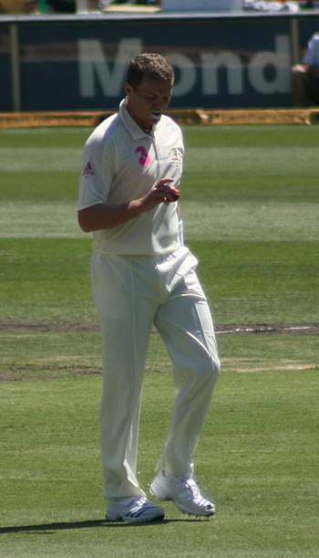 English: Peter Siddle, at the SCG vs. South Af...