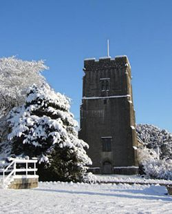 St. Peter's Church in the snow, December 2010