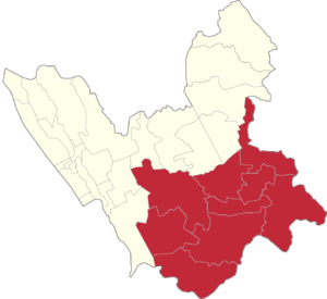 Legislative districts of Valenzuela - Map of Valenzuela City showing the second district