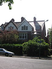 Larkin's former second-floor flat in Hull was part of a building of conventional red-brick construction in a residential area.