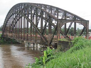 Sanaga River - Edea bridge on the Sanaga