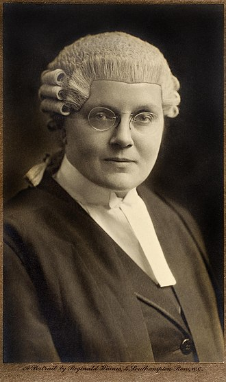 Barrister - Helena Normanton, first female British barrister.