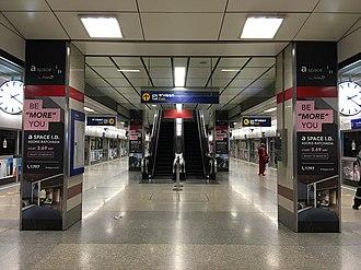 Phra Ram 9 MRT station - Image: Phra Ram 9 Station platform level