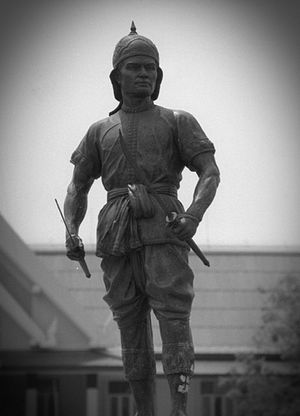 Phraya Phichai - Monument of Phraya Pichai Dap Hak, in front of Uttaradit City Hall.