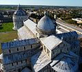 Piazza dei Miracoli - The roof of the Cathedral from the leaning Tower.jpg