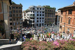 Piazza di Spagna square in Rome, Italy