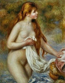 Pierre-Auguste Renoir - Baigneuse aux cheveux longs (1)