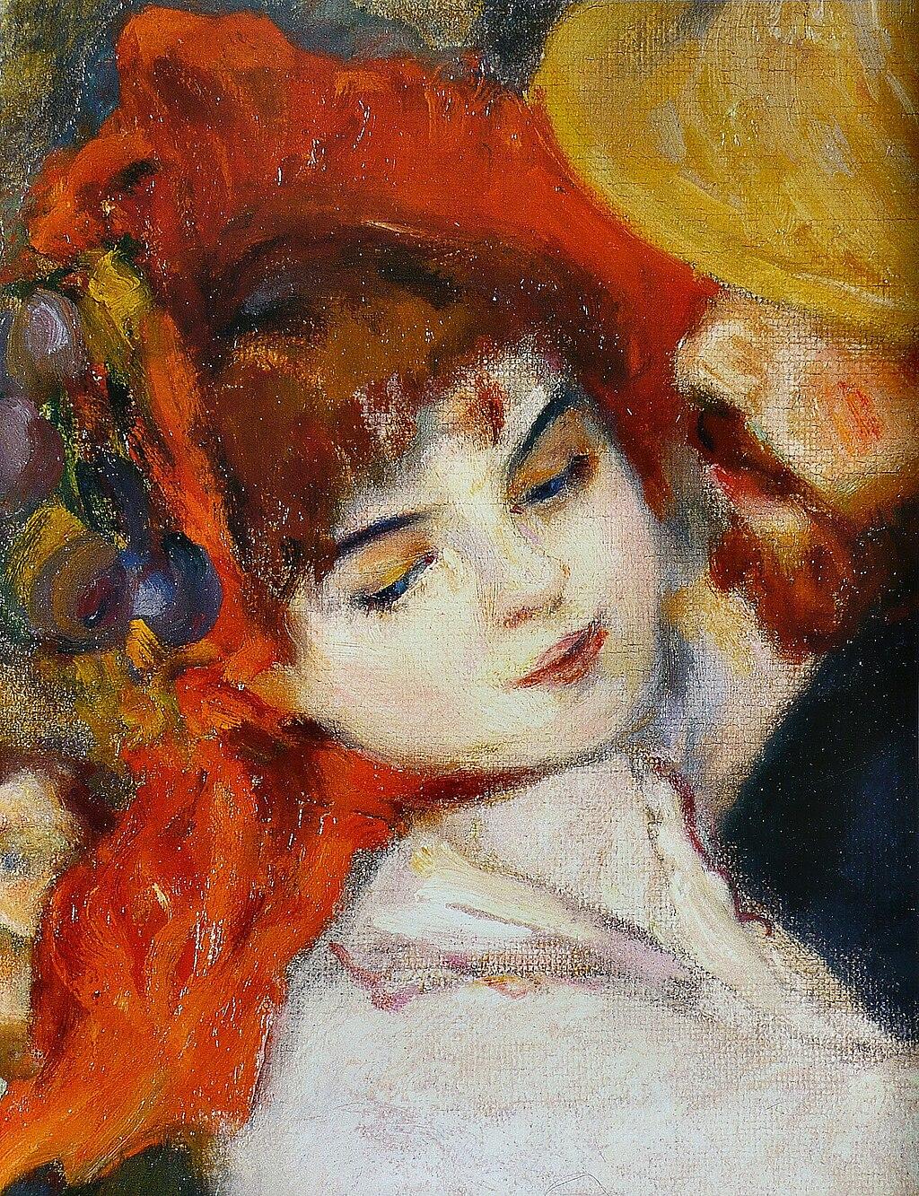 Pierre-Auguste Renoir - Suzanne Valadon - Dance at Bougival - Detail