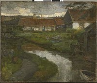 Piet Mondriaan - Farmstead and irrigation ditch with prow of rowboat - 0333234 - Kunstmuseum Den Haag.jpg