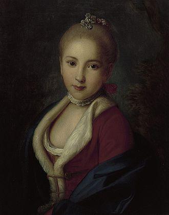 Princess Catherine of Schleswig-Holstein-Sonderburg-Beck - Catherine of Holstein-Beck, painting by Pietro Antonio Rotari