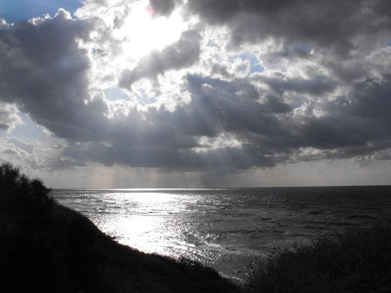 שקיעה בחוף יפו - סתיו 2011