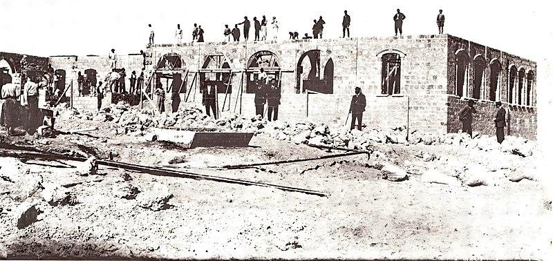 בניית גימנסיה הרצליה