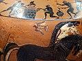 Pittore del louvre E739, hydria ricci, etruria (artigiani da focea), dalla banditaccia, 530 ac. ca., ercole all'olimpo su quadriga con ebe 3 uccello.jpg
