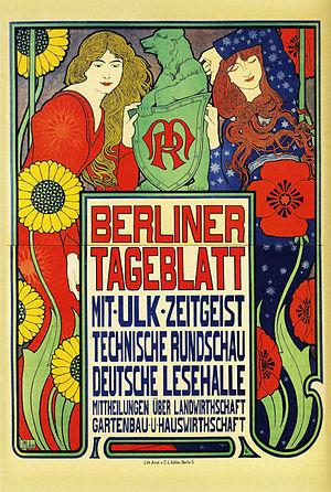Berliner Tageblatt - Poster from 1899